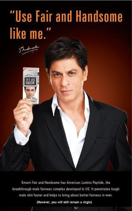 Shah Rukh Khan's Fair and Handsome Print Ad
