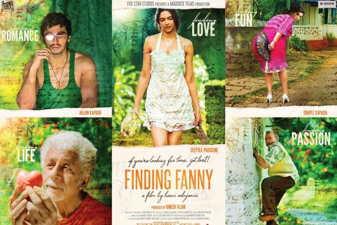 Finding Fanny Movie Cast Poster Wallpaper